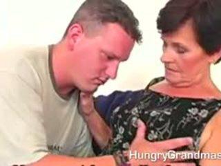brunette, ideaal oma, heet pijpbeurt gepost