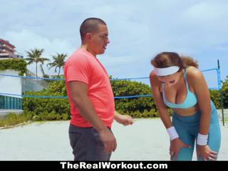 TheRealWorkout - Busty Babe Fucked By Trainer