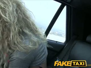 FakeTaxi Geeky blonde takes a pounding in taxi - Porn Video 611