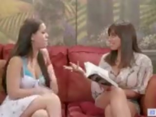 Stepmom Joins to Daughter and Babysitter, Porn 35