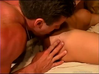 Slutty Faith Grant gets her horny hole spooned out by a big dick