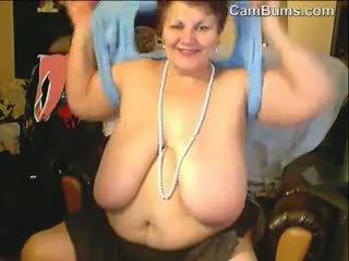 webcam, bbw, vecenīte, solo