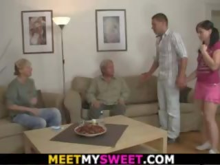 Hot Girl Sucks and Rides Old Man's Cock, Porn 93