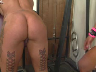 Dani Andrews and Megan Avalon in the Gym Can't Stop...