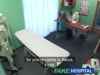 Fakehospital big tits babe has a back problem