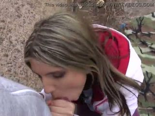Hot babe Gina Gerson takes a mouthful of cum outside <span class=duration>- 20 min</span>