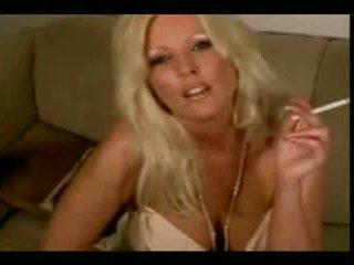 plezier blondjes vid, grote borsten klem, meer masturbatie actie
