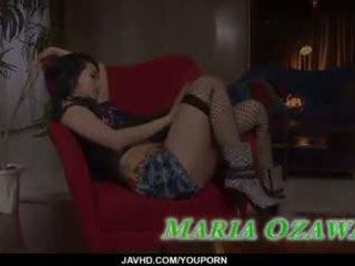 Sexy threesome porn action along slim maria ozawa