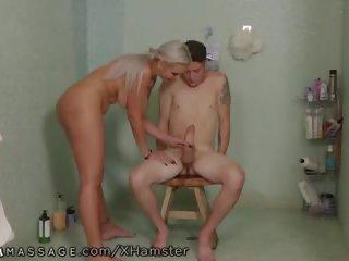 Nurumassage Nina Elle Takes Stepson's Virgin Cock: Porn 32