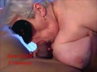 zuig- vid, zien likken tube, nieuw oma neuken