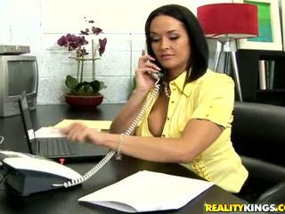 पूर्ण बड़े स्तन अधिकांश, बड़े स्तन, कार्यालय फ्री