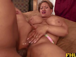 Fhuta - His Giant Cock Stretches Her Butt Hole to the