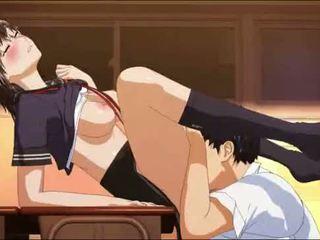 meest hentai, anime scène, nominale schoolmeisje film