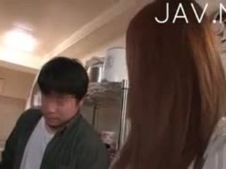 kwaliteit brunette, heet japanse gepost, uniform porno