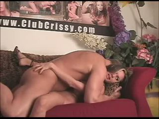Sexy Crissy Moran gets her tight hole nailed deep and gets a juicy creampie