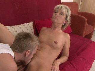 Young Stud gets His Tool Ready While He Licks Mature.