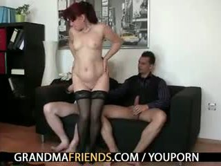 Office lady enjoys two cocks