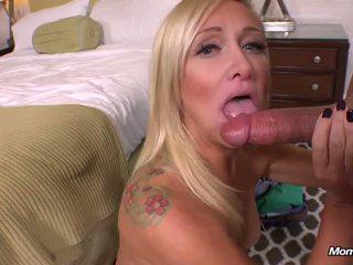 New Blonde MILF gets Anal Creampie POV