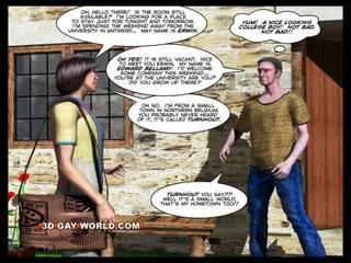 Rum för hyra 3d bög animated tecknad comics