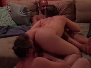Interracial threesome with big clit Hotwife and Craigslist cock.