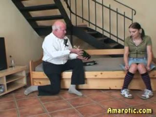 Old Man - Young Girl: Free Teen Porn Video