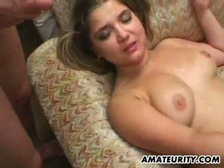 Busty amateur girlfriend orgy with bukkake