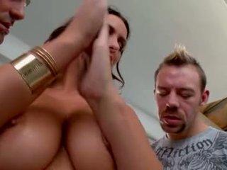 plezier brunette porno, ideaal orale seks film, heetste dubbele penetratie mov