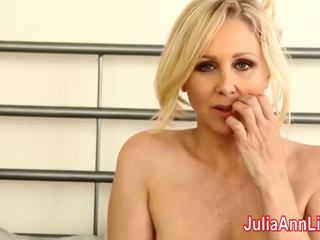 MILF Julia Ann Teases You with Lingerie & Helps You Cum