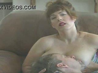 tits, menghisap, susu