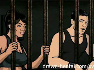 Archer hentai - cadeia sexo com lana