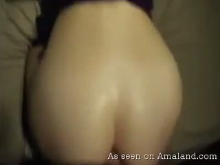 Hardcore chick gets messy anal creampie