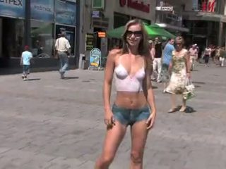 fresh naked in public, exhibitionism vid, blonde channel