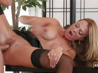 Bigtitted Blonde MILF Brenda James Has A Mouthfull At The Office