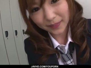 Miku airi asijské školačka blows a velký čurák