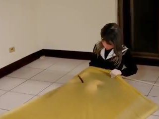 Kigurumi Vibrating in Vacuum Bed, Free HD Porn 8e