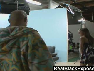RealBlackExposed Black Babe Swallows a