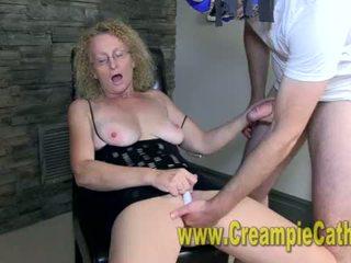 Cougar Gets A Creampie