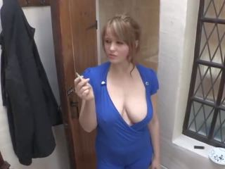 Smoking Girl Down Blouse Big Breast, Free Porn 03
