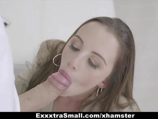 Exxxtrasmall - Hot Teen Stops Time & Fucks Large Cock