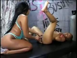 lesbiennes, zwart en ebony film, heet voet fetish porno