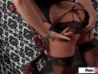 brunette, big boobs, striptease