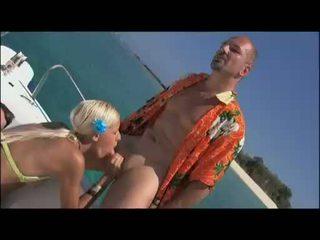 Outdoor loving babe Boroka Borres gets the perfect hot bang on the yacht