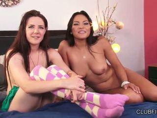 Adrianna Luna And Samantha Bentley Get Caught