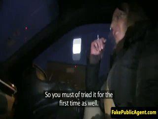 Shy european hitchhiker fucked on spycam