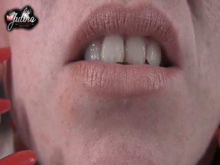 Hypnose Sklaven Erziehung Worship einer Domina Lippen FemDom JOI