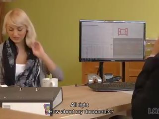 Loan4k Passionatre Fucking on the Table in Office of...