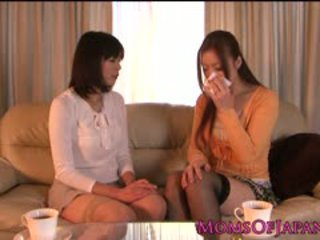 japanese, lick, lesbian, stockings