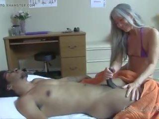 kwaliteit interraciale, kleine tieten klem, massage