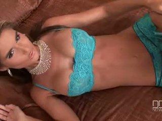 Perfect Czech Glamour model Nessa Devil double penetrates herself.