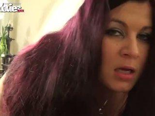 mollig film, orgasme tube, zien vaginale masturbatie video-